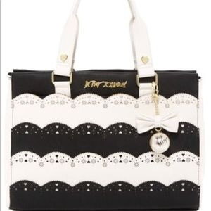Betsey Johnson Laser cut large tote